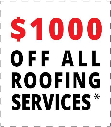 $1000 off all roofing services*
